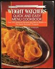 Weight Watchers Quick And Easy Menu Cookbook 1988 Hardcover