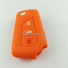 Fit For Toyota Corolla Remote Flip Silicone Rubber Key Fob Cover Case Protect