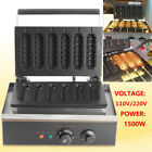 6 Grids Commercial Nonstick Electric Crispy Lolly Hot Dog Sausage Maker Machine