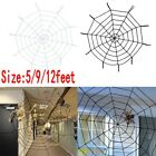 Giant 5 9 12Ft Halloween Horror Rope Spider Web Outdoor Decor Black White j c