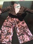 NWT Greggy Girl 3 PC Pink And Brown Pageant Casual Wear Outfit Size 4