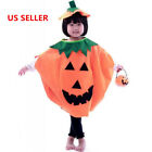 Halloween Funny Cosplay Unisex Kids Pumpkin Suit Style Clothes Bag Costumes Gift