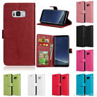 For Samsung S3 S4 S5 S6 S7 S8+ Wallet Flip Folio PU Leather ID Card Slots Case