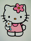 Hello Kitty With Flower Die Cut Paper Scrapbook Embellishment