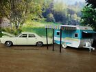 1967 Ford Custom 1958 Catolac Deville Travel Trailer Camper 164 Diecast Toy Set