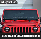 Flip Me Over Windshield Sticker Banner Vinyl Decal Bumper Sticker For Jeep 4x4