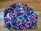 NWT KATE HILL Womens plus cardigan aweater ZINNIA GARDE  2X