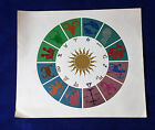 ZODIAC SIGNS done in metallic foils Astrology Printing arts vintage c 1980s