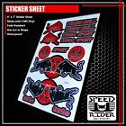 MICRO SPONSOR STICKER DECAL MOTORCYCLE DIRK BIKE ATV GEAR HELMET TURBO BULL LOGO