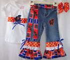 Custom NCAA Jeans Outfit all teams Gators Tigers Bulldogs Buckeyes Seminoles