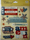 NEW 12 pc AMERICANA WORDS Life Liberty Bless the USA Freedom K  CO 3D Stickers