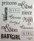 Babies People Words Phrases Family Scrapbook Stickers