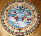 222 Fifth TWELVE DAYS OF CHRISTMAS Salad Plate seven swans   100