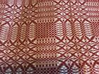 Cream HAND WOVEN COVERLET 98in X 79in