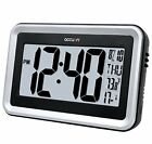 Accuon Large Atomic Radio-controlled Self-setting Digital Wall Clock with Indoo