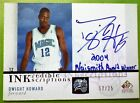 Dwight Howard 2004 auto 12 25 inkredible scriptions jersey number autograph