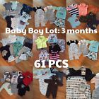 Baby Boy 3 Months Clothes Lot 61 PCS Sleepers Outfits Pants Shorts Bibs