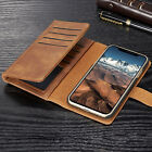 Luxury Wallet Buckle Removable Flip Leather Card Case Cover For iPhone X 8+ 7 6s