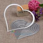 10pcs Heart Sewing Thread Metal Die Cutting Dies For DIY Scrapbooking Embossing