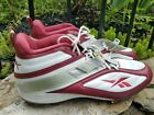 19 Reebok Mens NFL Equipment FGT Cleat White Red Football Shoes Cleats