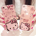 Cute Hello Kitty Bling Glitter Soft Gel Case Cover for iPhone XS Max XR 6S 7 8+