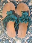 Womans Size 10M Croft  Barrow Sandals In Turquoise NWOT