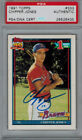 1991 91 CHIPPER JONES TOPPS ROOKIE #333 SIGNED AUTO PSA DNA CERTIFIED