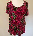 Lularoe Classic Tee Top Disney Roses Pink Red Large L NWT New HTF Unicorn