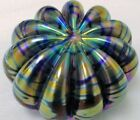 EICKHOLT PAPERWEIGHT 1990 STUNNING IRIDESCENT RARE SEA URCHIN STYLE SIGNED DATED