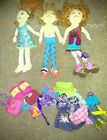 Groovy Girls Doll Lot of 3 with Clothing Accessories
