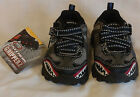 Skechers NEW size 5 gripperz black gray teeth print toddler boy off road shoes