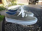 SPERRY TOP SIDER MENS CANVAS LACE UP BOAT SHOES SIZE 75