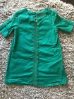 Oshkosh Green Dress with Lace Accents Girls Size 4T