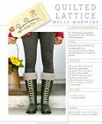 QUILTED LATTICE WELLY WARMERS KNITTING PATTERN From Pam Powers Knits NEW