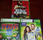 Xbox 360 games bundle 3 GAMES tetras biggest loser red dead redemption