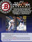 2017 Bowman High Tek Baseball Hobby Box Presell