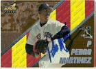 1998 Pacific PEDRO MARTINEZ Signed Card RED SOX autograph auto METS DODGERS HOF