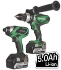 New HITACHI Cordless Battery Powered Combi Drill & Impact Driver 18v Twin Pack