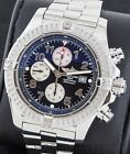 Breitling Super Avenger A13370 SS Black Arabic Dial 48mm Box & Papers
