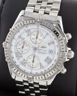 Breitling Crosswind Chronograph SS A13355 White Dial 43mm Auto
