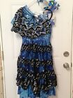 Chasing Fireflies Girls Blue Monarch Butterfly Costume with Wings Size 14 Set