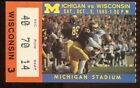 Ticket College Football Michigan 1985 10 5 Wisconsin