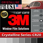 "3M Crystalline 20% VLT Automotive Car Window Tint Film Roll Size 30"" x  30"" CR20"