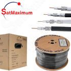 RG6 COAXIAL Cable BULK 500ft 1000 ft Dual Quad / Shield Coax 18 AWG TV Satellite