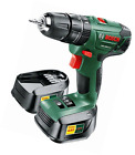 Bosch Cordless Combi Drill w/ 2 Lithium-Ion Battery Keyless Chuck and Soft Grip