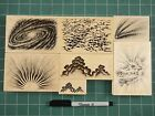 Stampscapes Rubber Stamps New Overstock Sky Stamps II