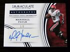 2016 Immaculate MARSHALL FAULK Collection Collegiate AUTO 1 5