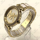 New Michael Kors MK6313 39mm Women's Parker Two-Tone Stainless MK Logo Watch