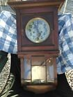 Antique German wall clock Gustav Becker Silesia Curved Glass Running