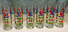 VTG Applied Handle Aperitif Shot Cordial Glasses Hand Painted Floral Design - 6